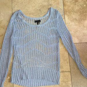 Jeans by Buffalo crocheted blouse sweater